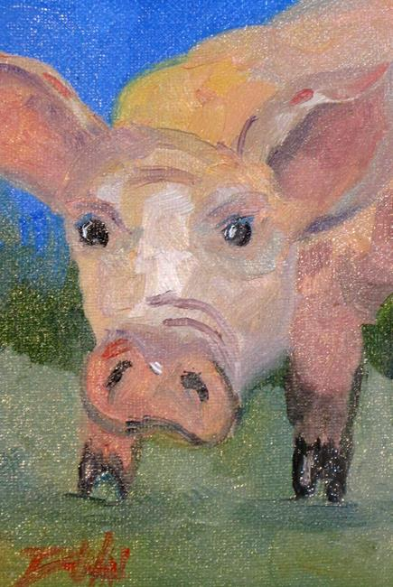 Art: Pig No. 17 by Artist Delilah Smith