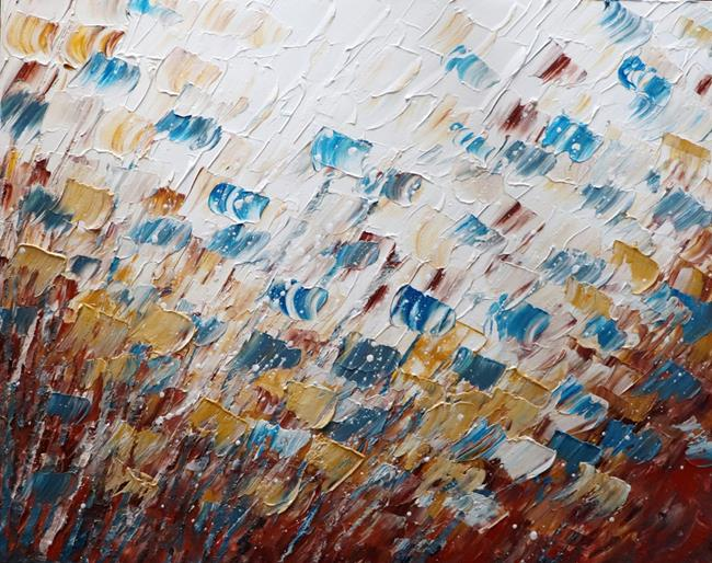 Art: Soft Touch Petals in the Wind no 1 by Artist LUIZA VIZOLI