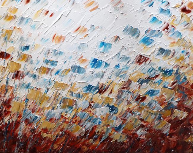Art: Soft Touch Petals in the Wind no 2 by Artist LUIZA VIZOLI