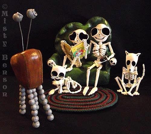 Art: Day of the Dead Family Night by Artist Misty Monster (Benson)