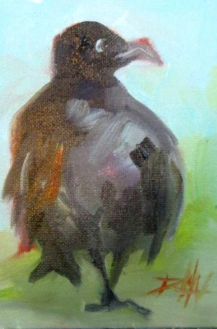 Art: Fat Raven by Artist Delilah Smith