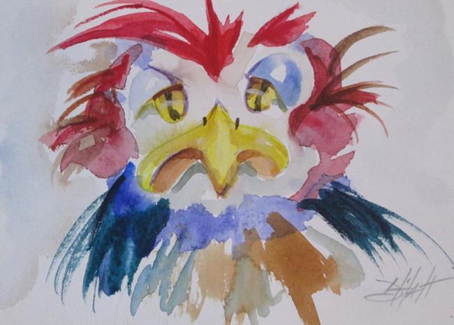 Art: Grumpy Bird No. 2 by Artist Delilah Smith
