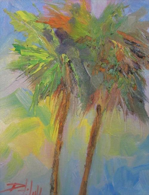 Art: Two Palm Trees by Artist Delilah Smith