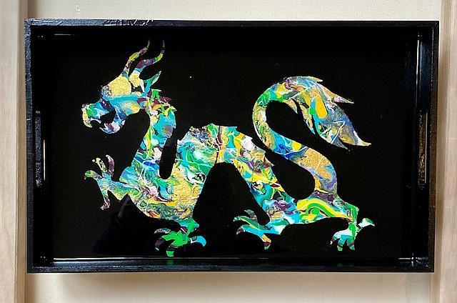 Art: Dragon Tray # 2 by Artist Ulrike 'Ricky' Martin