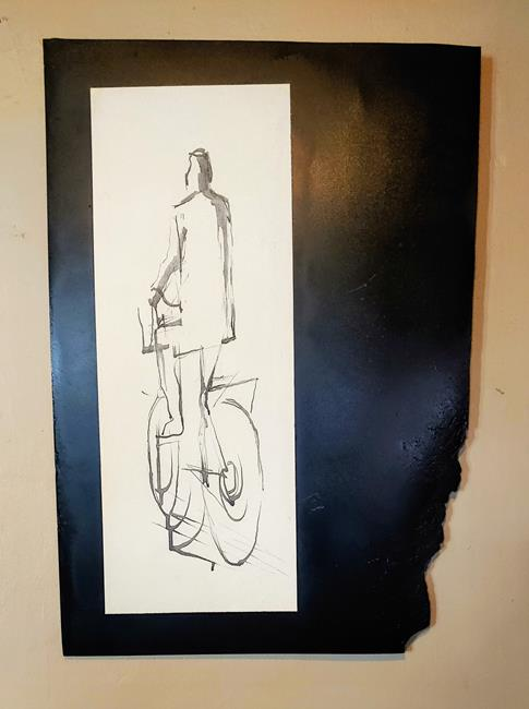 Art: Cyclist by Artist Richard R. Snyder