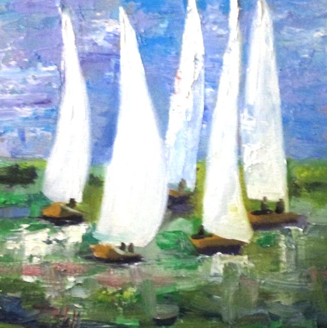 Art: Sailboats No. 29 by Artist Delilah Smith