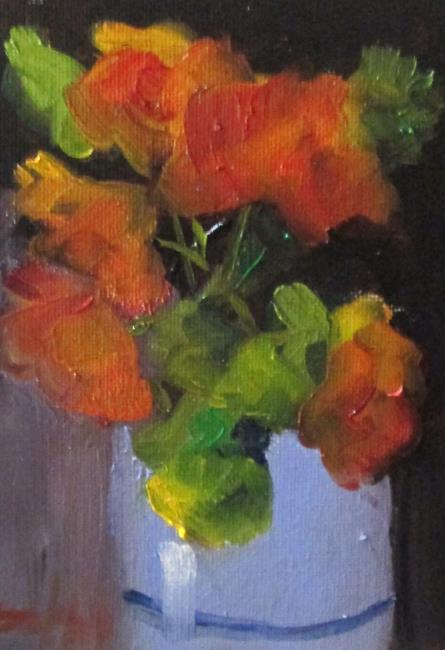 Art: Vase of Orange Flowers by Artist Delilah Smith