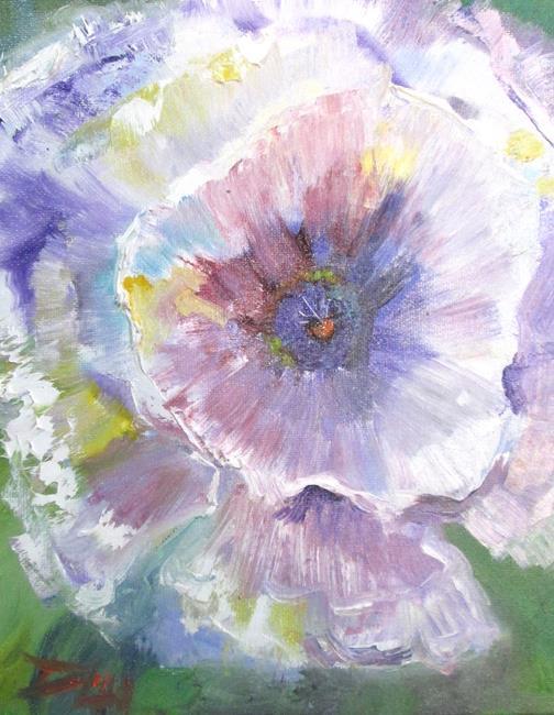 Art: White Poppy by Artist Delilah Smith