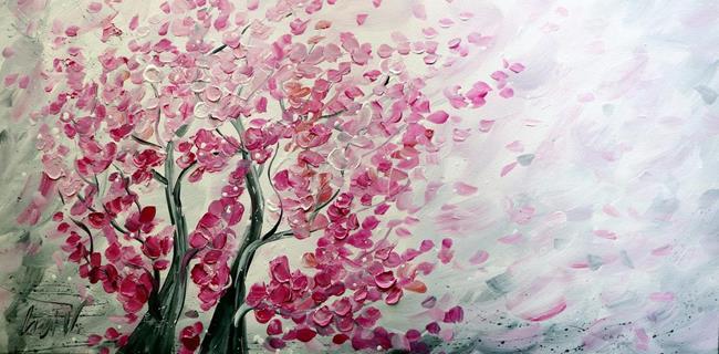 Art: Blooming SAKURA by Artist LUIZA VIZOLI
