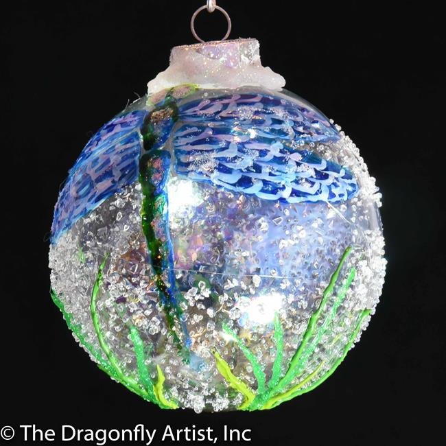 Art: Lori Wiggins Knowles Blue Winged Dragonfly Ball 1393087 by Artist Rebecca M Ronesi-Gutierrez