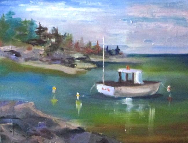 Art: Fishing Boat by Artist Delilah Smith