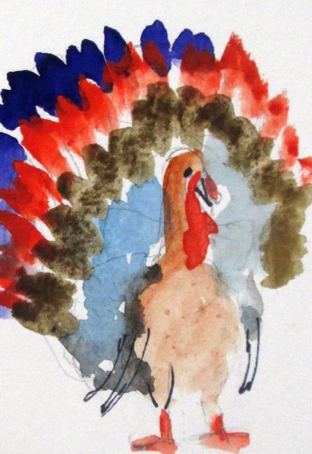 Art: Aceo Turkey No. 5 by Artist Delilah Smith