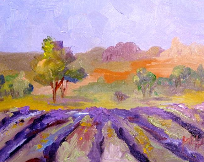 Art: Lavender Field No. 6 by Artist Delilah Smith
