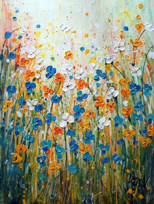 Art: DAISY FLORAL Morning Bliss Summer Bloom by Artist LUIZA VIZOLI