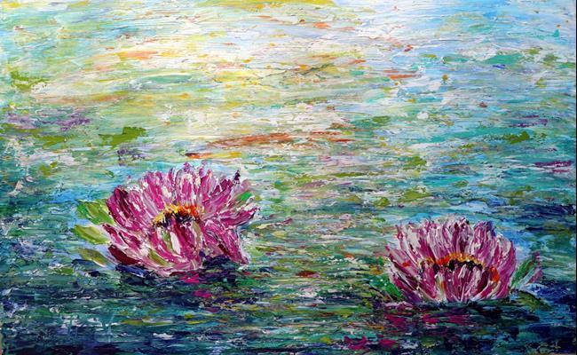 Art: LOTUS FLOWERS by Artist LUIZA VIZOLI