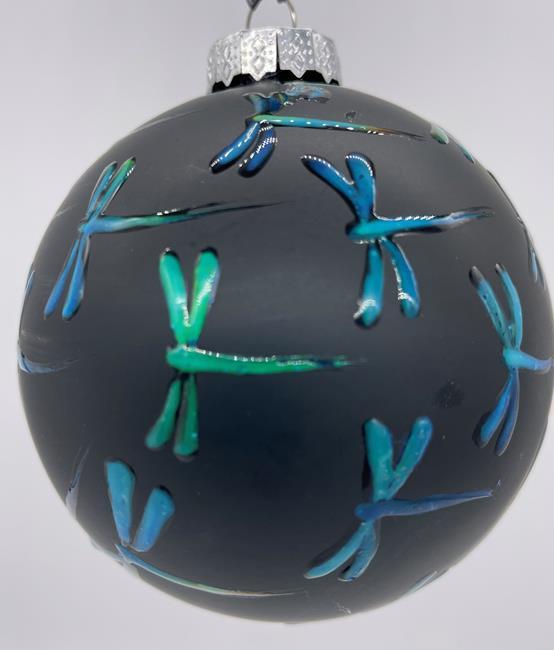 Art: Black Matte Color Change I Dragonfly Ball #1393069 by Artist Rebecca M Ronesi-Gutierrez