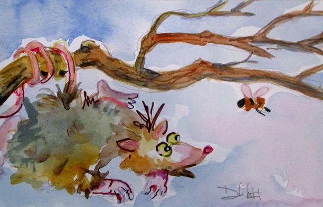 Art: Opossum by Artist Delilah Smith
