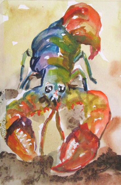 Art: Lobster No. 13 by Artist Delilah Smith