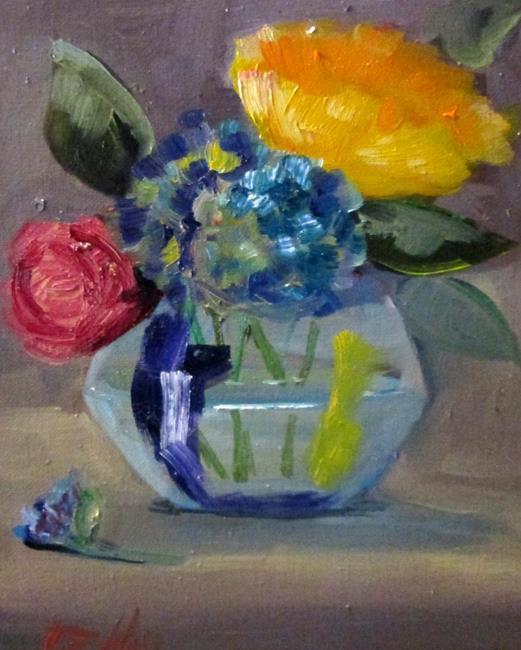 Art: Vase of Garden Flowers by Artist Delilah Smith