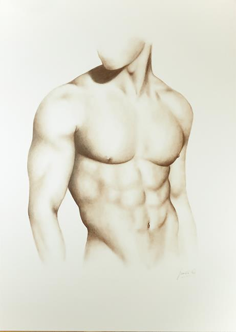 Art: Male Nude by Artist Ewa Kienko Gawlik