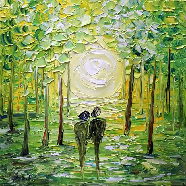 Art: Spring Romance by Artist LUIZA VIZOLI