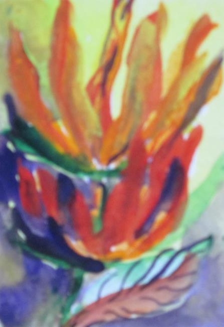 Art: Aceo Bird of Paradise No.2 by Artist Delilah Smith