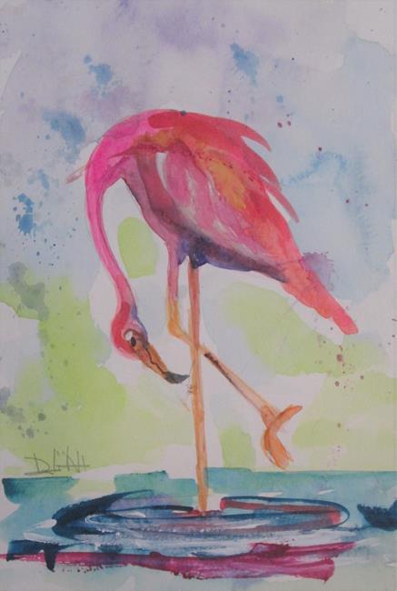 Art: Flamingo No, 41 by Artist Delilah Smith