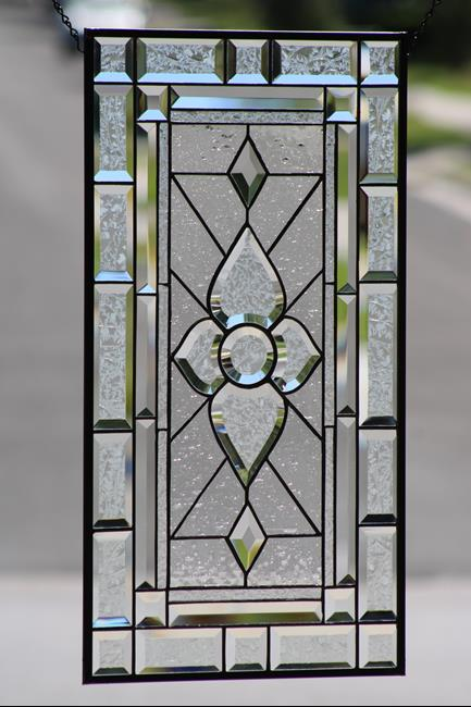 Art: Clearly Beautiful Beveled Stained Glass Panel by Artist Chris Gleim