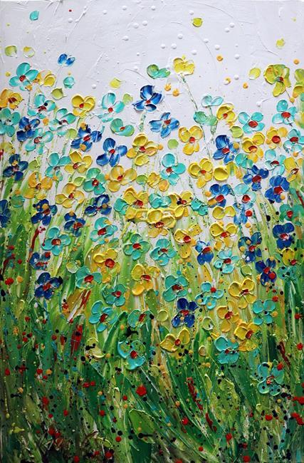 Art: Colors of Summer Flowers by Artist LUIZA VIZOLI