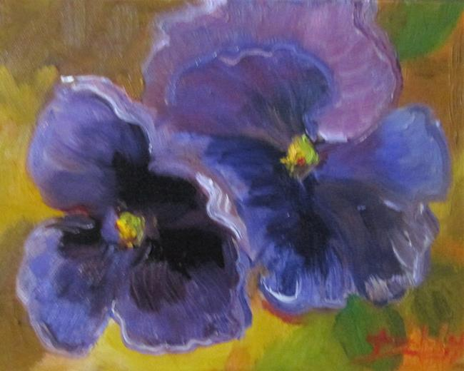 Art: Pansies No. 8 by Artist Delilah Smith