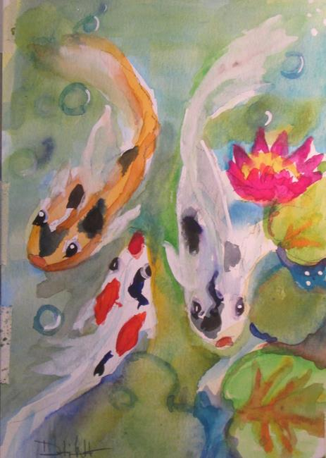 Art: Koi Pond by Artist Delilah Smith