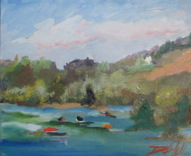 Art: Boats on the Lake by Artist Delilah Smith