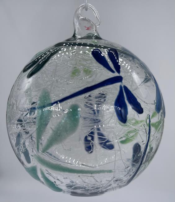 Art: Cool Blue Green Dragonfly Ball #1393063 by Artist Rebecca M Ronesi-Gutierrez
