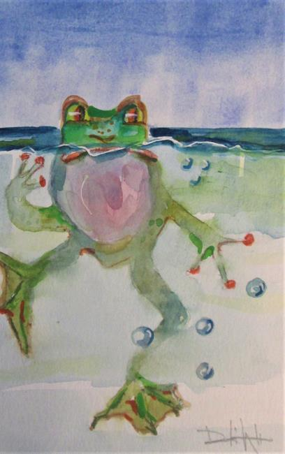 Art: Frog No. 4 by Artist Delilah Smith