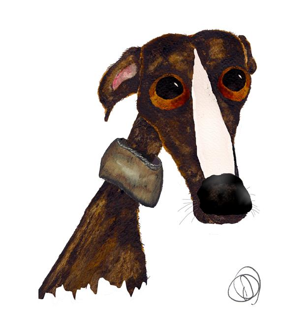 Art: GREYHOUND g125 by Artist Dawn Barker