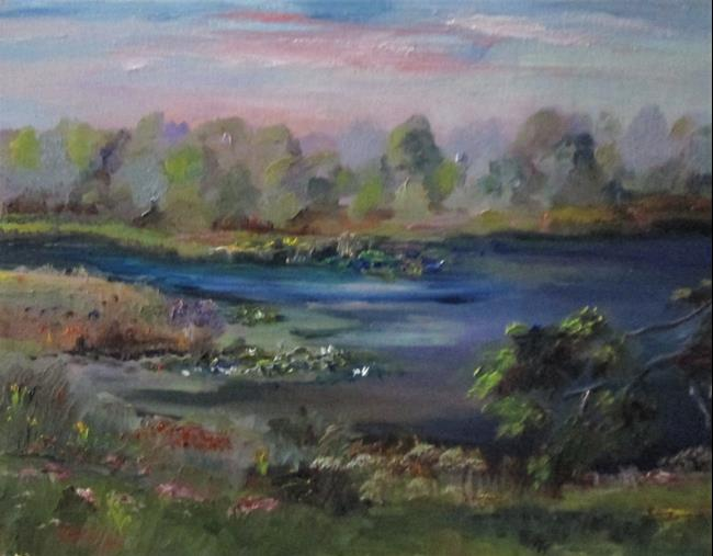 Art: View of the Lake by Artist Delilah Smith