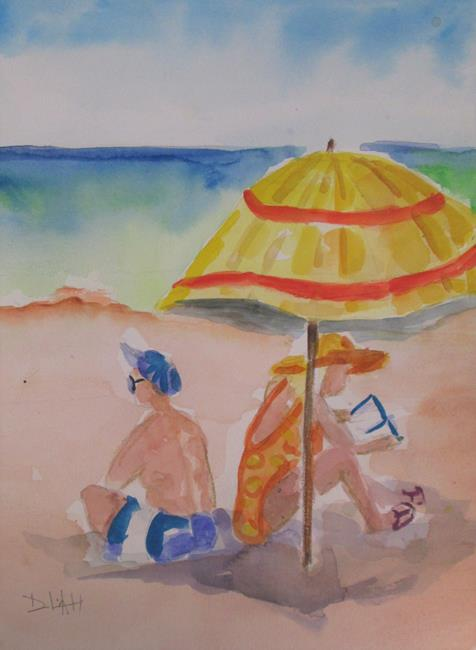 Art: Beach Day by Artist Delilah Smith