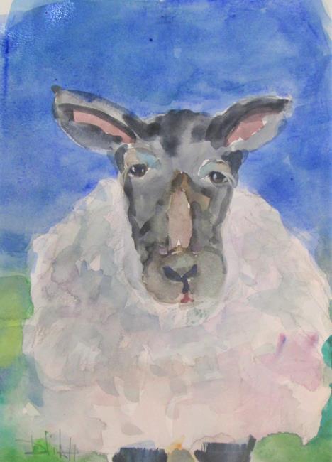 Art: Sheep No. 10 by Artist Delilah Smith