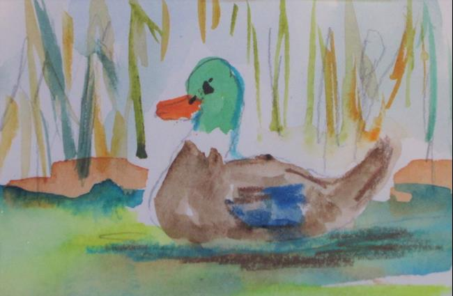 Art: Aceo Mallard No. 7 by Artist Delilah Smith