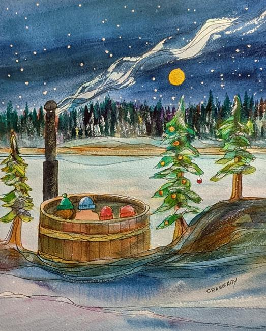 Art: Ruth Lake Christmas(commission) by Artist Kathy Crawshay