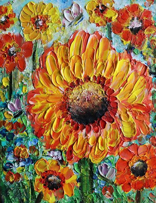 Art: Summer GERBERA by Artist LUIZA VIZOLI