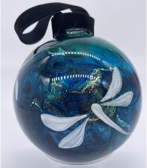 Art: Sea Glass Dragonfly Ball #1393056 by Artist Rebecca M Ronesi-Gutierrez