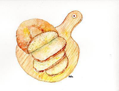 Art: Bread by Artist Nata Romeo ArtistaDonna