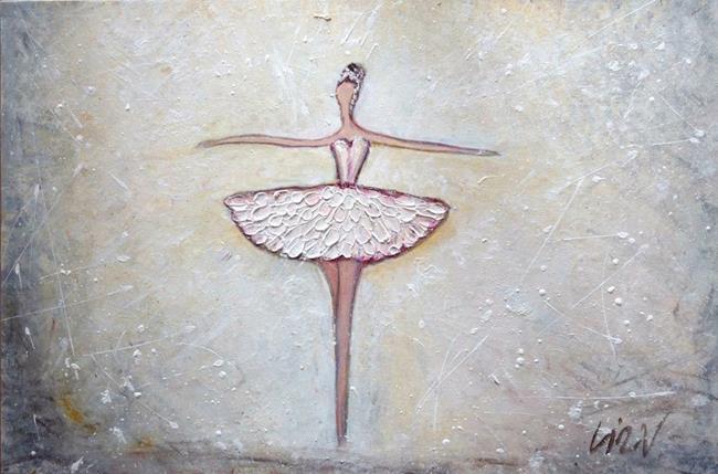 Art: White Dress BALLERINA by Artist LUIZA VIZOLI