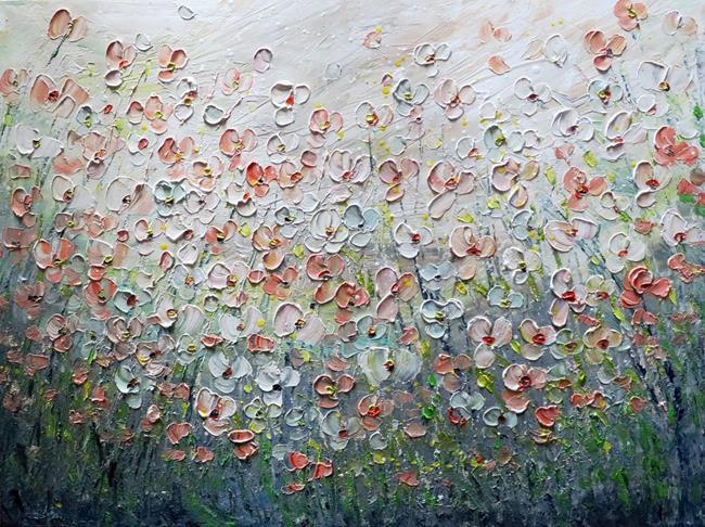Art: RELAXING DAY Wildflowers Field by Artist LUIZA VIZOLI