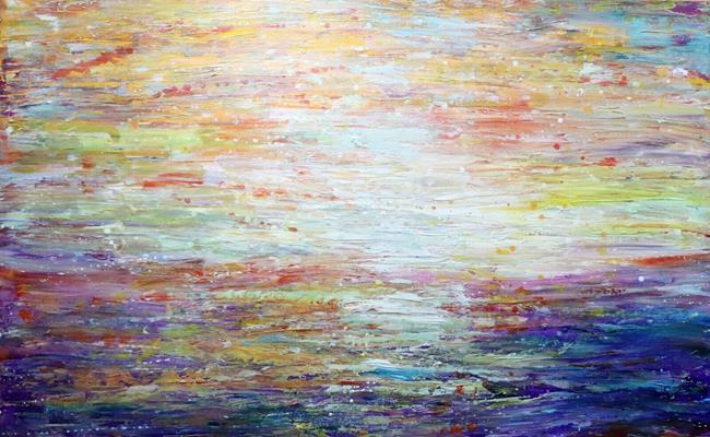 Art: Sunrise by Artist LUIZA VIZOLI