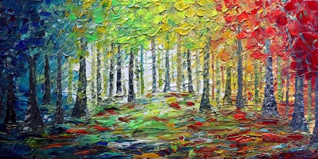 Art: FOUR SEASONS FOREST by Artist LUIZA VIZOLI