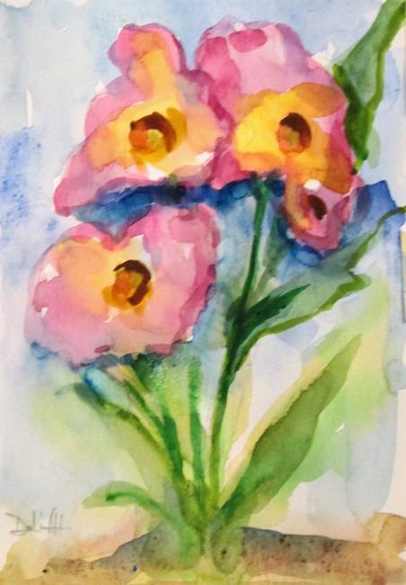 Art: Pink Garden Flowers by Artist Delilah Smith