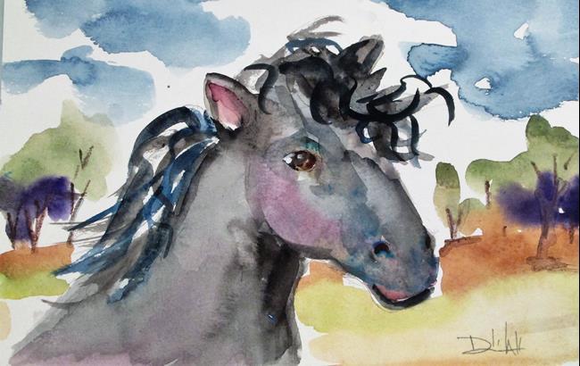 Art: Wild Horse by Artist Delilah Smith