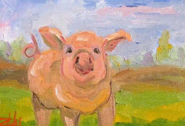 Art: Pig Farm by Artist Delilah Smith